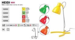 Lampe de table jaune Heidi FARO 52053