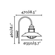 Lampe applique marron Winch FARO 66201