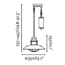 Lampe suspension marron Winch FARO 66205