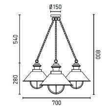 Lampe suspension rouille 3L Nautica Faro