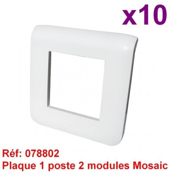 Lot de 10 plaques simple MOSAIC - REF 78802