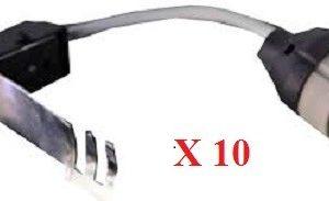 Lot de 10 douilles GU10 avec connecteur rapide