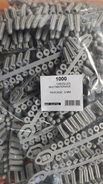 Lot DE 1000 Chevilles crampons D.8 RAM