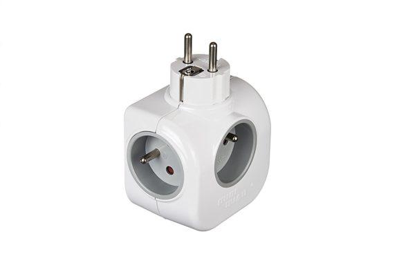 Multiprise rotative avec chargeurt téléphone MINI QUAD 161-01