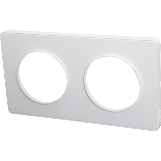 Plaque simple blanche ODACE - S520702