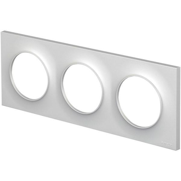 Plaque triple blanche ODACE - S520706