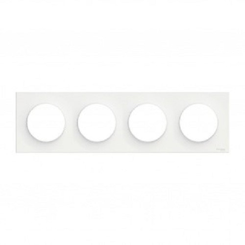 Plaque quadruple blanche ODACE - S520708