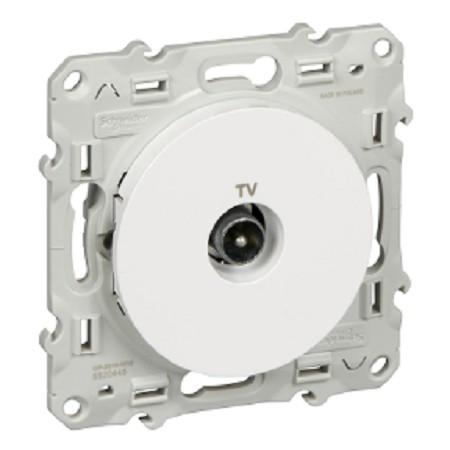 SCHNEIDER - Prise TV simple ODACE - S520445